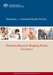 Dementia Research Mapping Project Final Report - Ageing ...