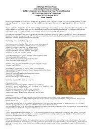 Ashtanga Vinyasa Yoga Intensive Teacher Training