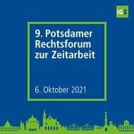 Infomappe 9. Potsdamer Rechtsforum