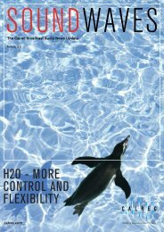 H2O - MORE CONTROL AND FLEXIBILITY - Calrec