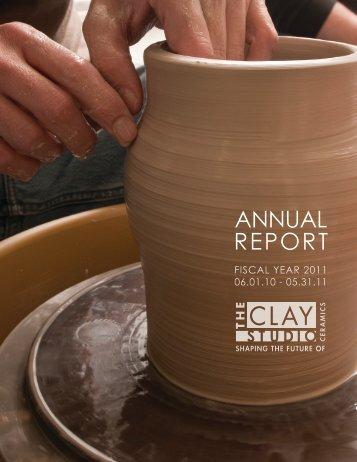 ANNUAL REPORT - The Clay Studio
