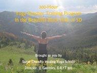 300-Hour Yoga Teacher Training Program in the ... - SturgisYoga