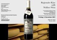 Regionaler Käse trifft Walliser Weine