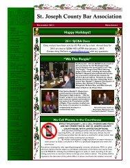 December 2011 Newsletter - St. Joseph County Bar Association