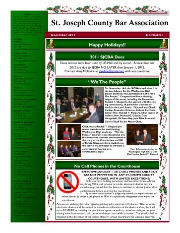 December 2011 Newsletter - St. Joseph County Bar Association