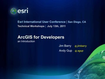 ArcGIS for Developers - Esri