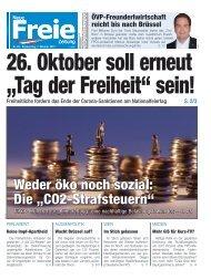 """26. Oktober soll erneut """"Tag der Freiheit"""" sein!"""