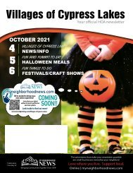 Villages of Cypress Lakes October 2021