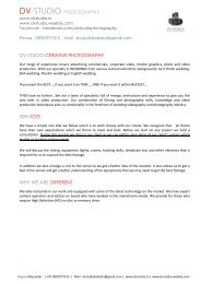 DV-STUDIO PHOTOGRAPHY DV-STUDIO CREATIVE ...