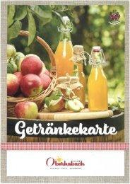 Getränkekarte Oberhabach