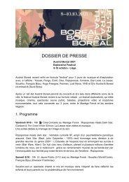 Dossier de presse Austral Boreal 2021