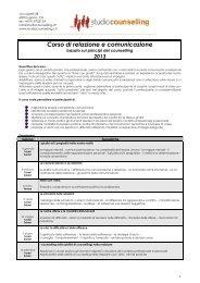 Corso di relazione e comunicazione - IFCoS