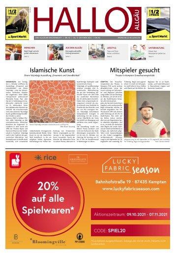 Hallo-Allgäu  vom Samstag, 09.Oktober