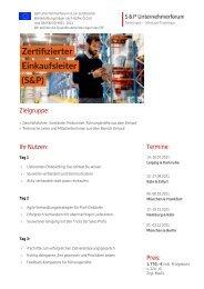 Lehrgang Zertifizierter Einkaufsleiter (S&P) - S&P Seminare - Produkt Z13 - 2. HJ 2021