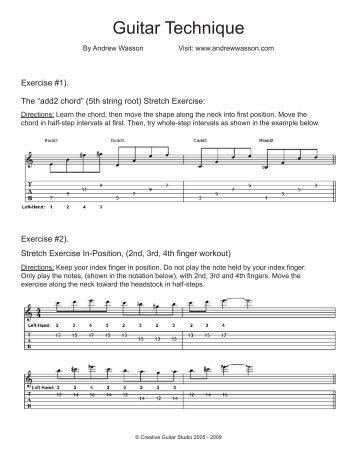 Guitar Technique - Andrew Wasson