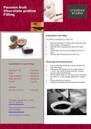 Passion fruit Chocolate praline Filling - Creative Studio