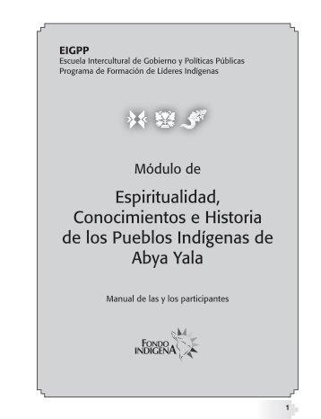 Module de Espiritualidad, Conocimientos e Historia de los Pueblos Indigenas de Abya Yala