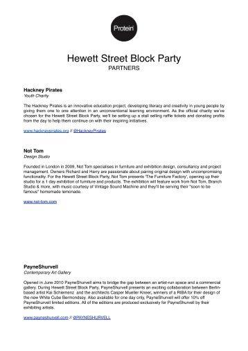 Hewett Street Block Party