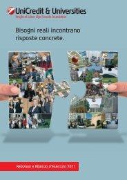 Scarica qui la Relazione di Bilancio 2011 - Unicredit and Universities