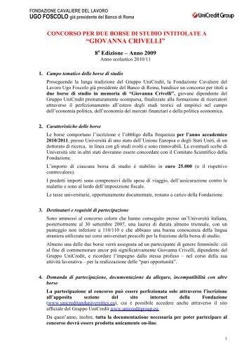 """GIOVANNA CRIVELLI"" - UniCredit & Universities Foundation"