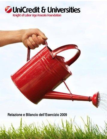 Relazione di bilancio - UniCredit & Universities Foundation