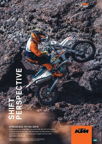 2021 OCTOBER AD KTM 250 EXC TPI SixDays