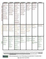 all club schedule sept 2010 - Bainbridge Athletic Club