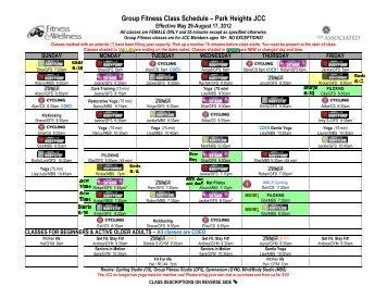 Jcc Palo Alto Group Fitness Schedule Blog Dandk