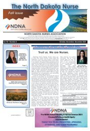 The North Dakota Nurse - October 2021