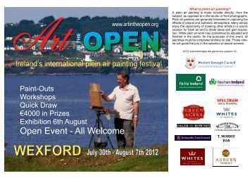 July 30th - August 7th 2012 WEXFORD - Art In The Open