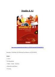 Studio d Deutsch als Fremdsprache A1