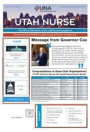 Utah Nurse - October 2021