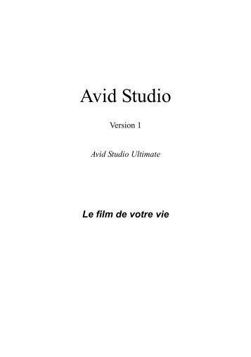 Avid Studio Manual - Pinnacle
