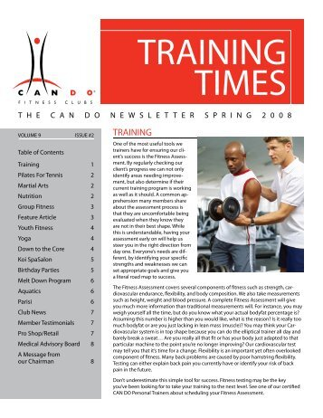 Spring 2008 - Can Do Fitness Clubs