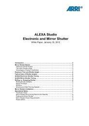 ALEXA Studio Electronic and Mirror Shutter