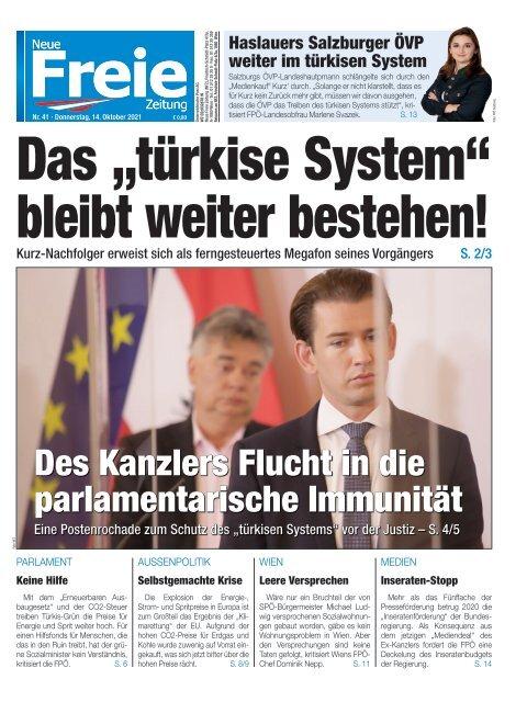 """Das """"türkise System"""" bleibt weiter bestehen!"""