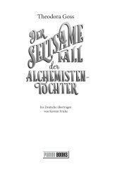 Der seltsame Fall der Alchemisten-Tochter (Leseprobe)