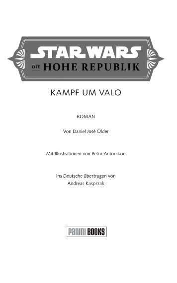 Star Wars - Die Hohe Republik - Kampf um Valo (Leseprobe)