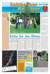 Sulzbacher Anzeiger Ausgabe Kw 41-2021