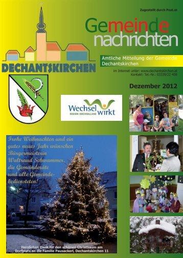 Dezember 2012 - Gemeinde Dechantskirchen