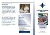 Chirurgie - St. Elisabeth-Krankenhaus Volkmarsen