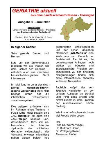 GERIATRIE aktuell Nr.6 März 2012 \(Endversion\) - Bundesverband ...