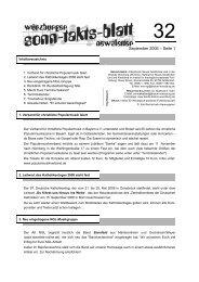 Sonntaktsblatt 32, Ausgabe September 2006 - Arbeitskreis Neues ...