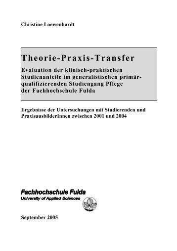 Fragebogen zur Optimierung des Theorie ... - Hochschule Fulda