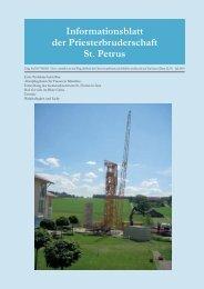 Informationsblatt der Priesterbruderschaft St. Petrus