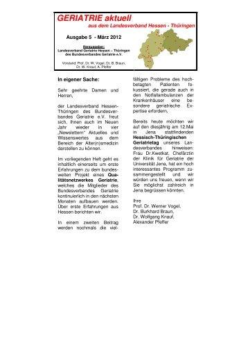 GERIATRIE aktuell Nr.5 März 2012 - Endversion- - Bundesverband ...