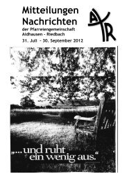 30. September 2012 - Aidhausen