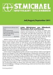 Juli/August/September 2011 - Katholische Kirchengemeinde St ...
