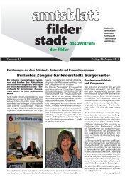 Brillantes Zeugnis für Filderstadts Bürgerämter - Stadt Filderstadt