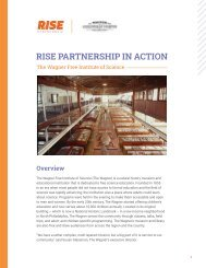 RISE Partnership in Action: The Wagner Free Institute of Science